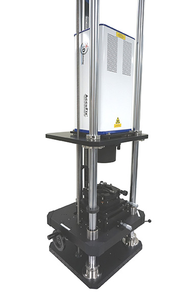 AccuFiz Fizeau Interferometer in look-down configuration (vertical stand)