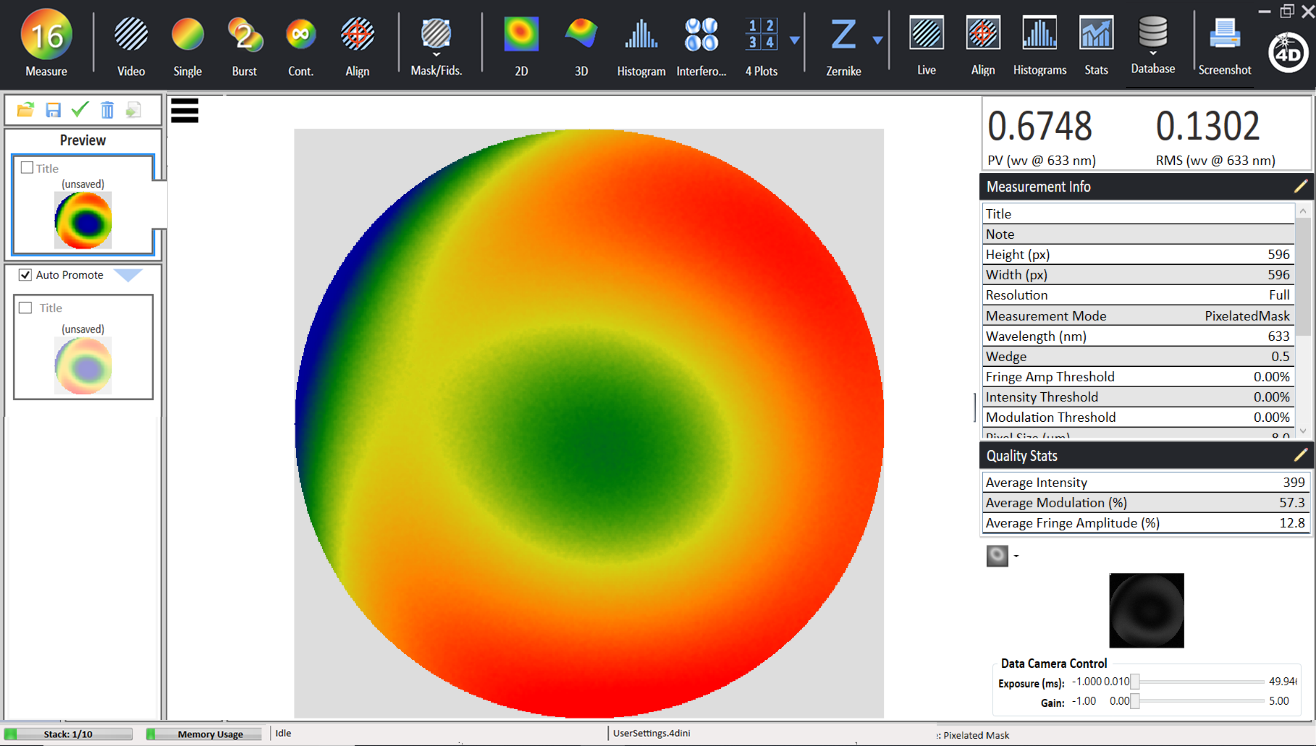 4Sight Focus Data Acquisition and Analysis Software