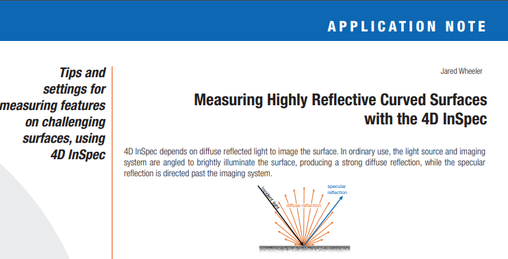 4D InSpec Application Note: Measuring Curved and Round Surfaces