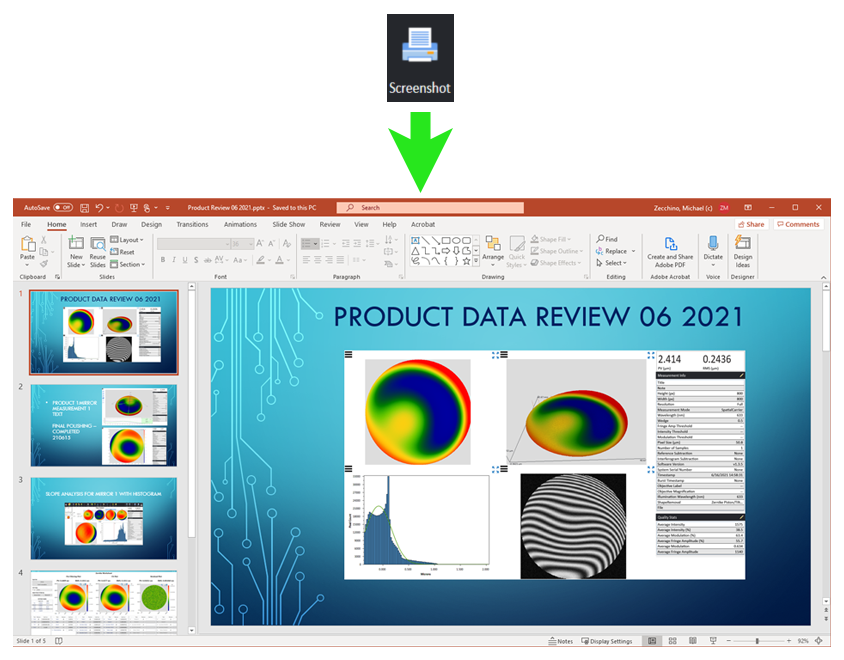 4Sight Focus - easy export to Microsoft PowerPoint